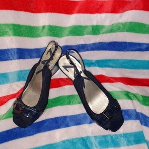 Anne Klein Sport wedge heels in Navy.  Size 9M
